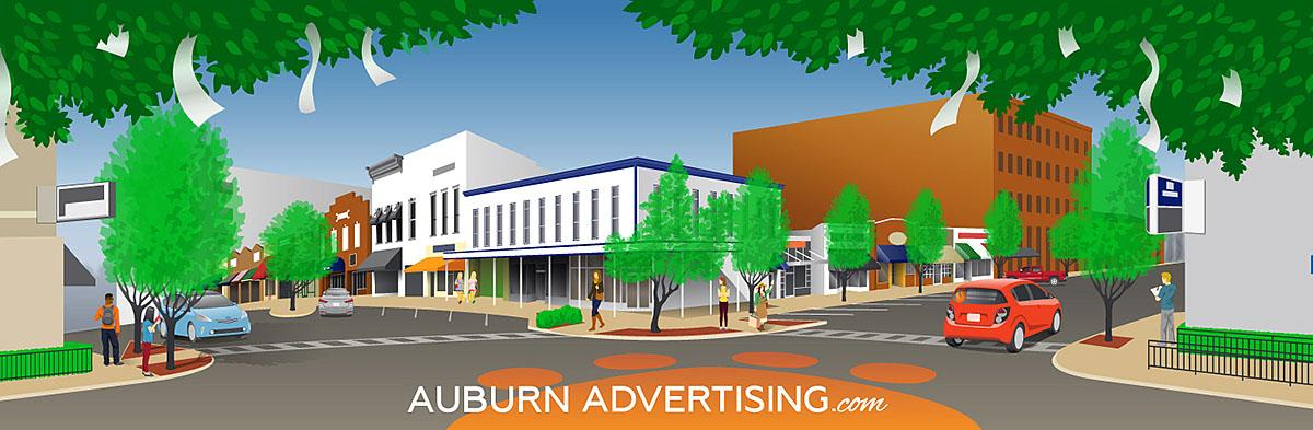 Auburn Advertising Illustration