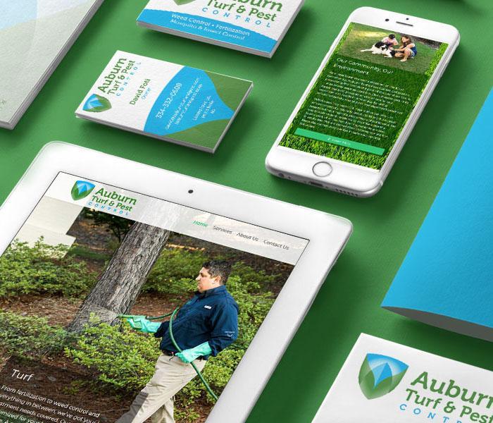 Auburn Turf & Pest Control Branding Suite