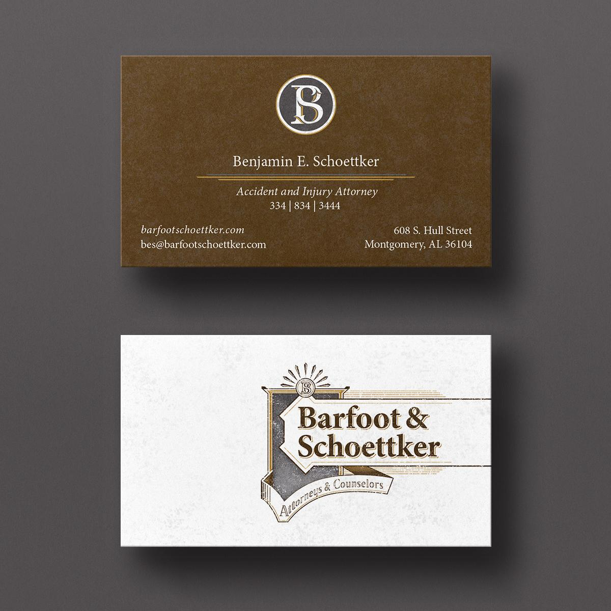 Barfoot and Schoettker Business Cards